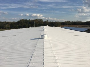 A restored metal commercial roofing in Raleigh, NC.