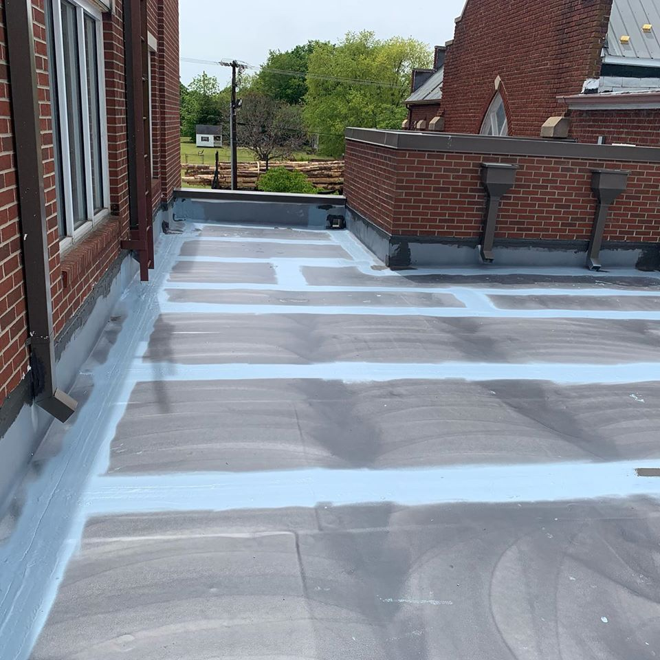 First steps in a roof restoration project.
