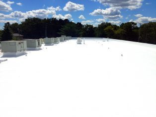 A white roof restoration project.