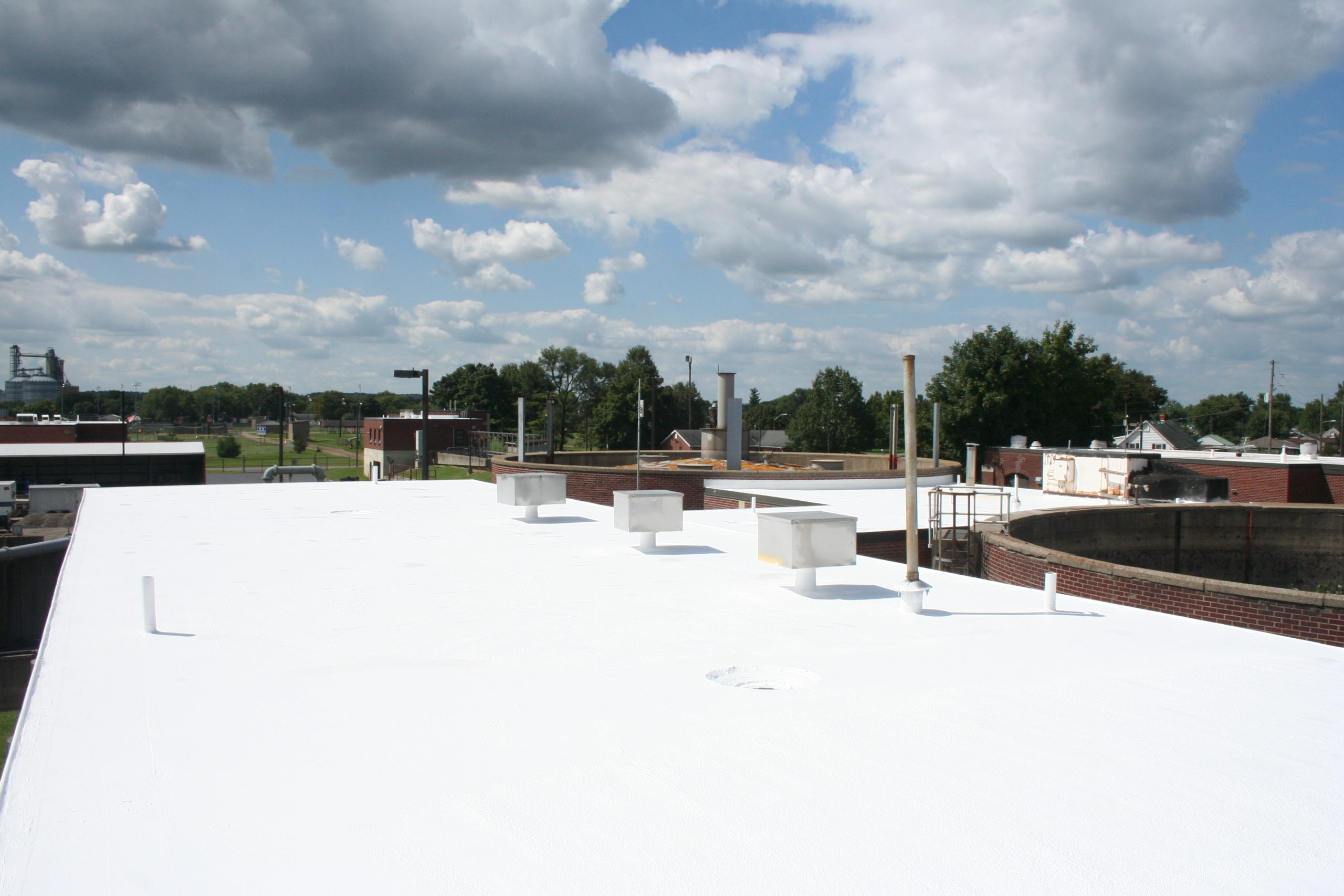 Our membrane roofing system at work!