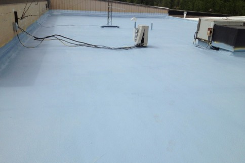 A completed spray foam restoration project.