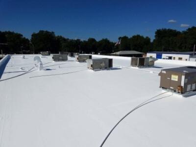 White roof restoration